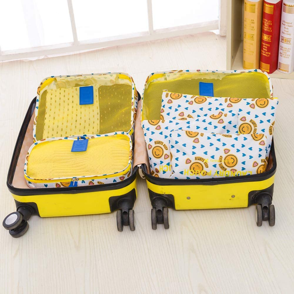 Mike Franklins 6Pcs Waterproof Travel Clothes Storage Bags Luggage Organizer Pouch Packing Cube C