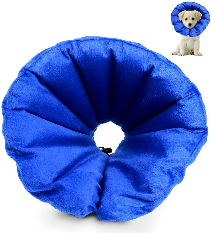 HOLYSTEED Inflatable Cone Protective Collar for Dogs
