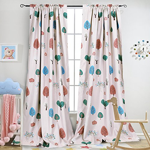 Melodieux Cartoon Darkening Pocket Curtains