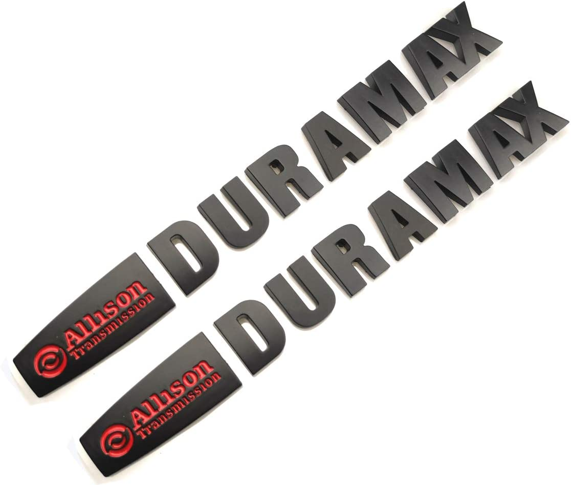 2x Allison Transmission Duramax Hood Emblem for GM Chevrolet Silverado Gloss Bla