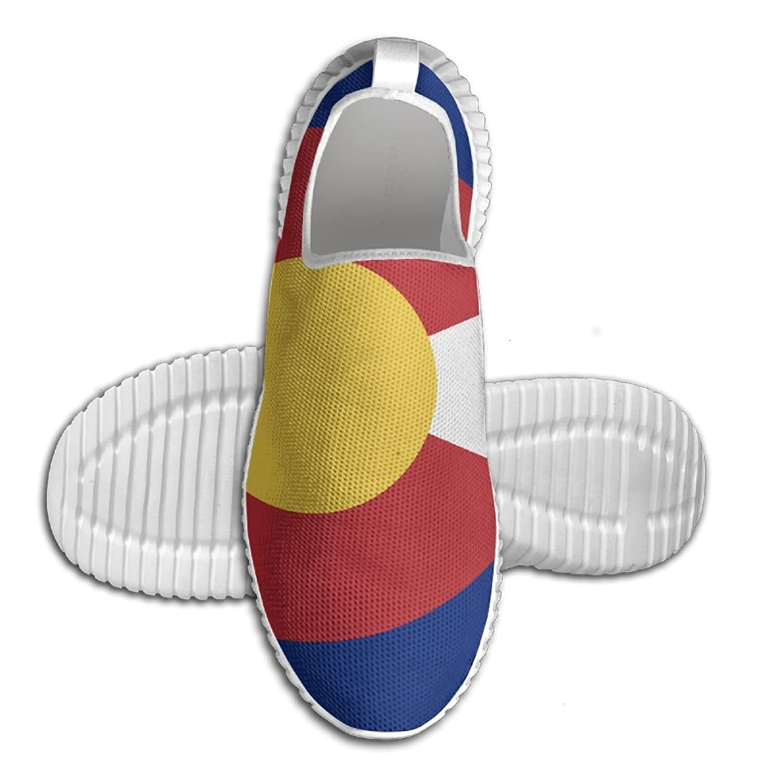 Flag Of Colorado Breathable Fashion Sneakers Running Shoes Slip-On Loafers Classic Shoes