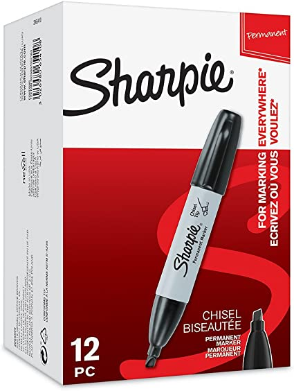 Sharpie 2065410.0 - Pack de 12 marcadores, color negro: Amazon.es: Oficina y papelería