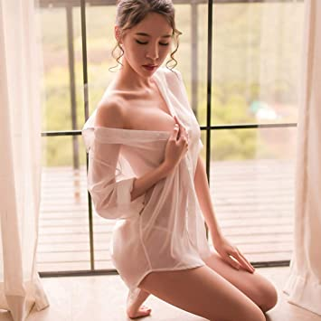 YouQDOLL - Camisa sexy transparente para mujer, falda corta ...