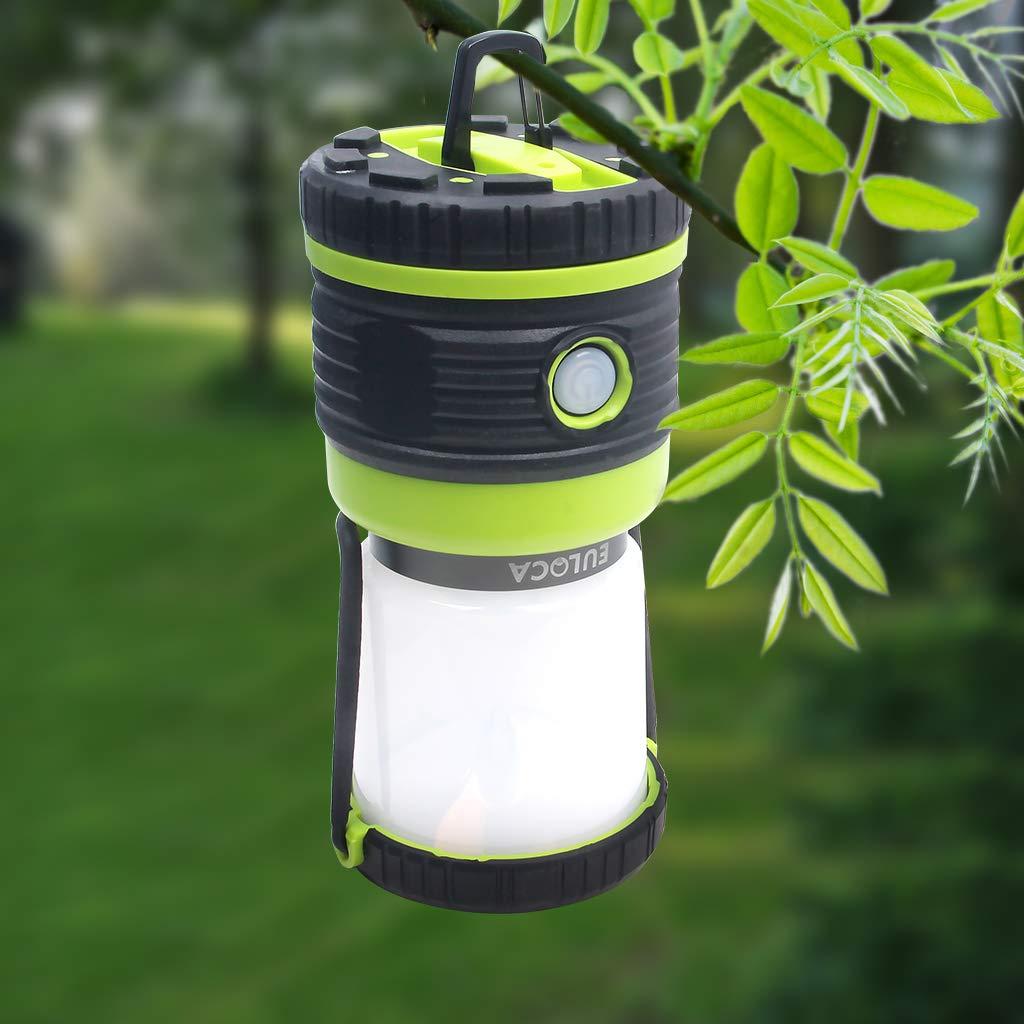 EULOCA Farol de Camping LED Regulable Jard/ín L/ámpara para Pesca Patio y hiking Excursi/ón 1200lm 4 Modos Resistente al agua Linterna Camping