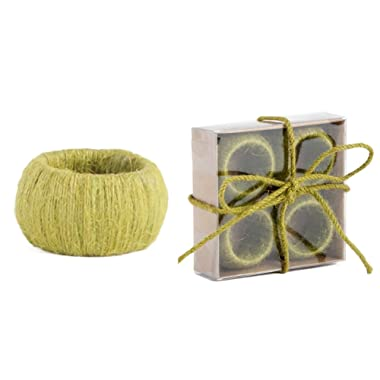 Decorate with Jute Classic Design Napkin Rings, Set of 4 (chartreuse)