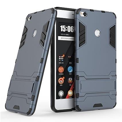 Funda para Xiaomi Mi Max 2 (6,44 Pulgadas) 2 en 1 Híbrida Rugged Armor Case Choque Absorción Protección Dual Layer Bumper Carcasa con pata de Cabra ...