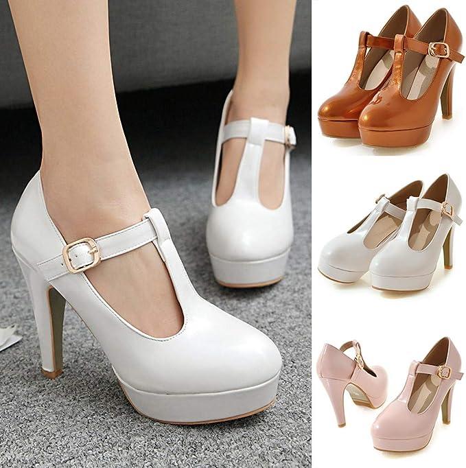 Details about  /Big Size Womens Office Work Pumps High Stiletto Heel Open Toe Sandals Shoes 43 L
