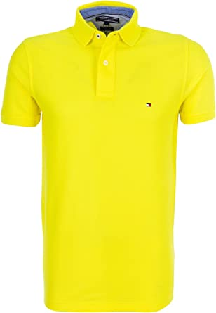 Tommy Hilfiger 50/2 Performance Polo S/s RF-Polo Hombre Amarillo L
