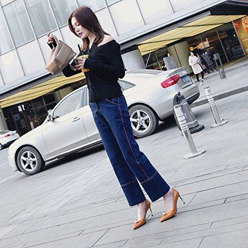 En De Party Chaussures Verni Pump Femmes Brown Hauts Cuir Travail Bureau Talon Robe Talons Escarpins Stiletto à Mariée fa67t