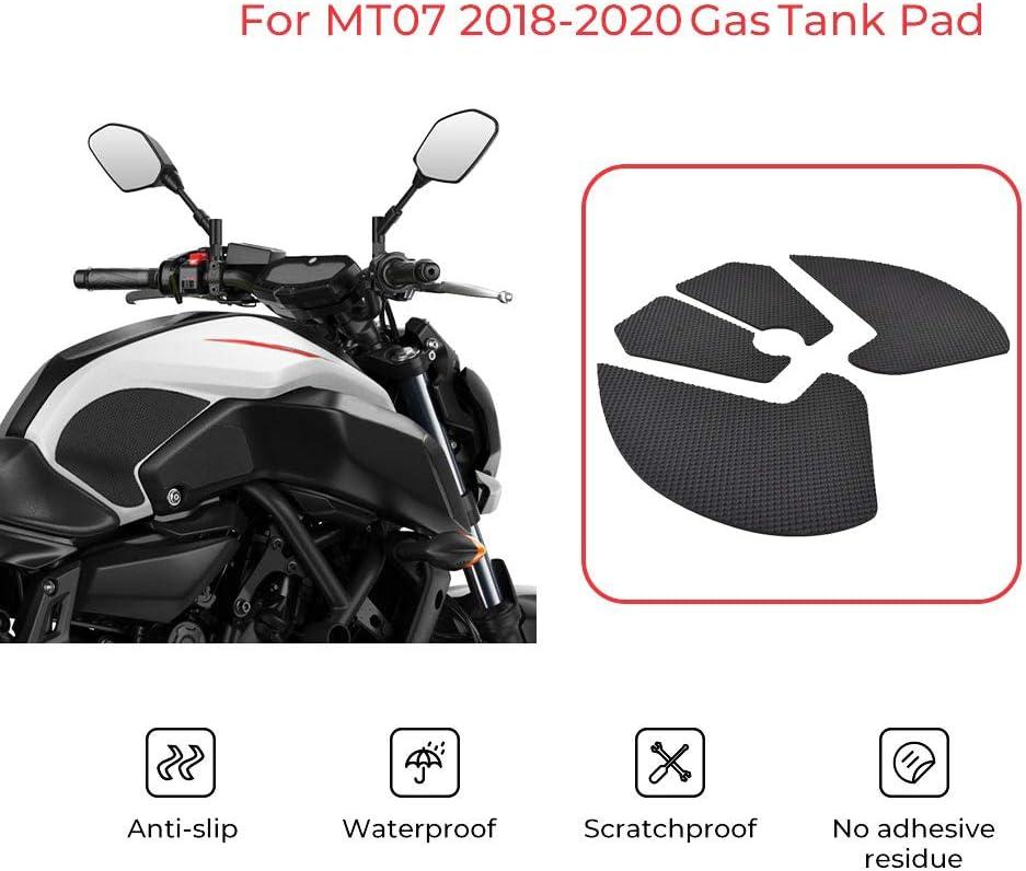 Camisin Motorrad Tank Traktion Pad Griffe Gummi Gas Tank Aufkleber Knie Schützer Für Mt 07 Fz 07 Fz07 Mt07 2018 2019 2020 Auto