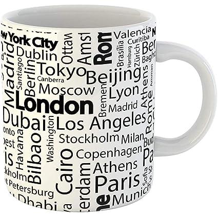 Amazon com: Coffee Tea Mug Gift 11 Oz Funny Ceramic City Cities of