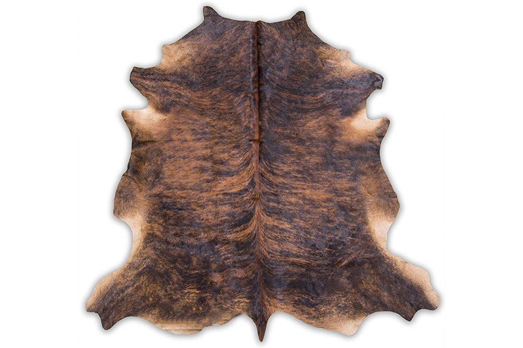 Cowhide Rug , Dark Brindle: XXL 6x8ft (180cmx240cm)
