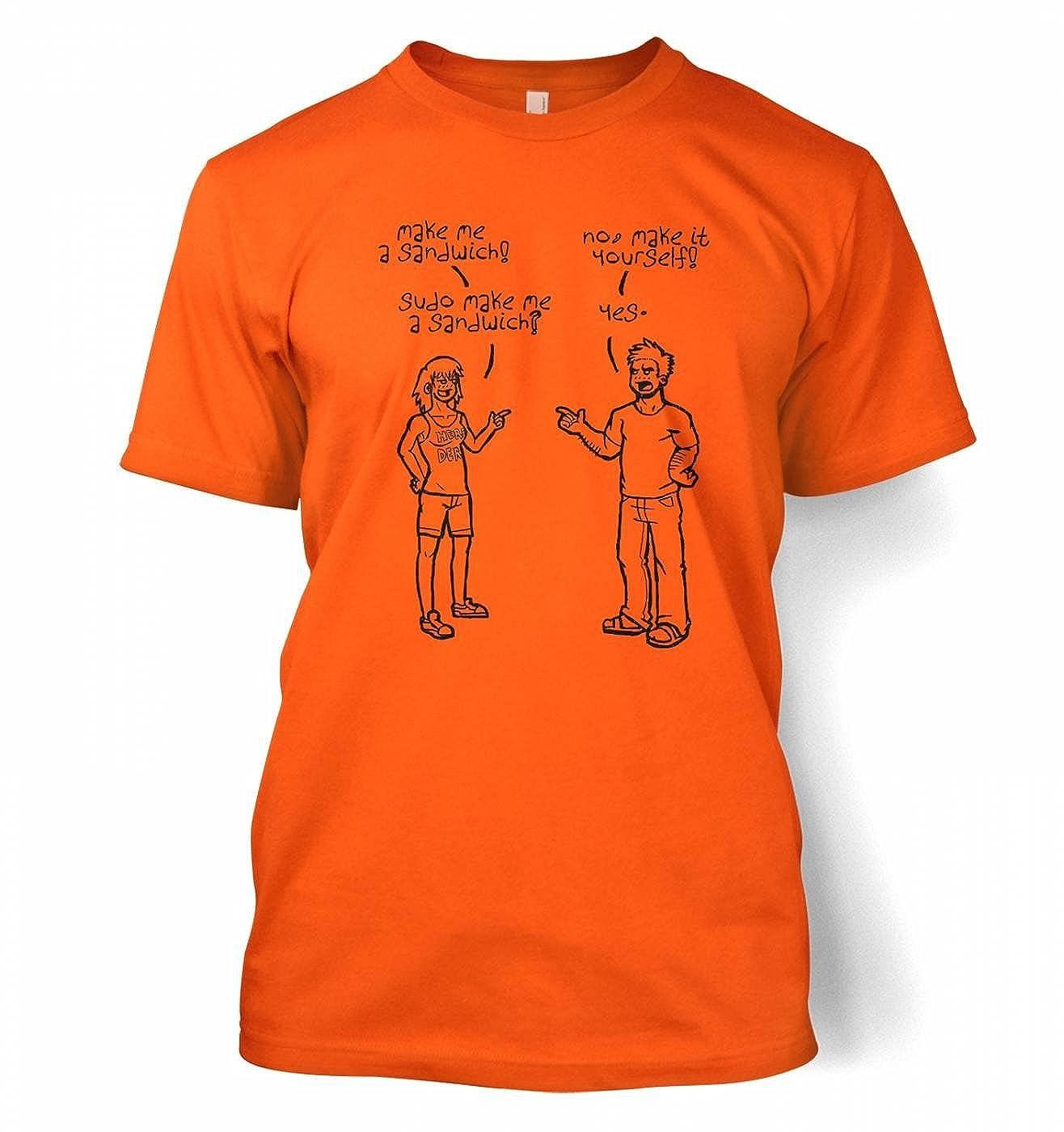 99b348b89 Programming Coding Geeky Tshirt - Sudo Make Me A Sandwich men's t-shirt -  Orange X-Large: Amazon.co.uk: Clothing