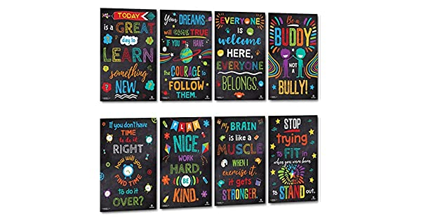 Amazon.com: Póster de Sproutbrite para aula – Classroom ...