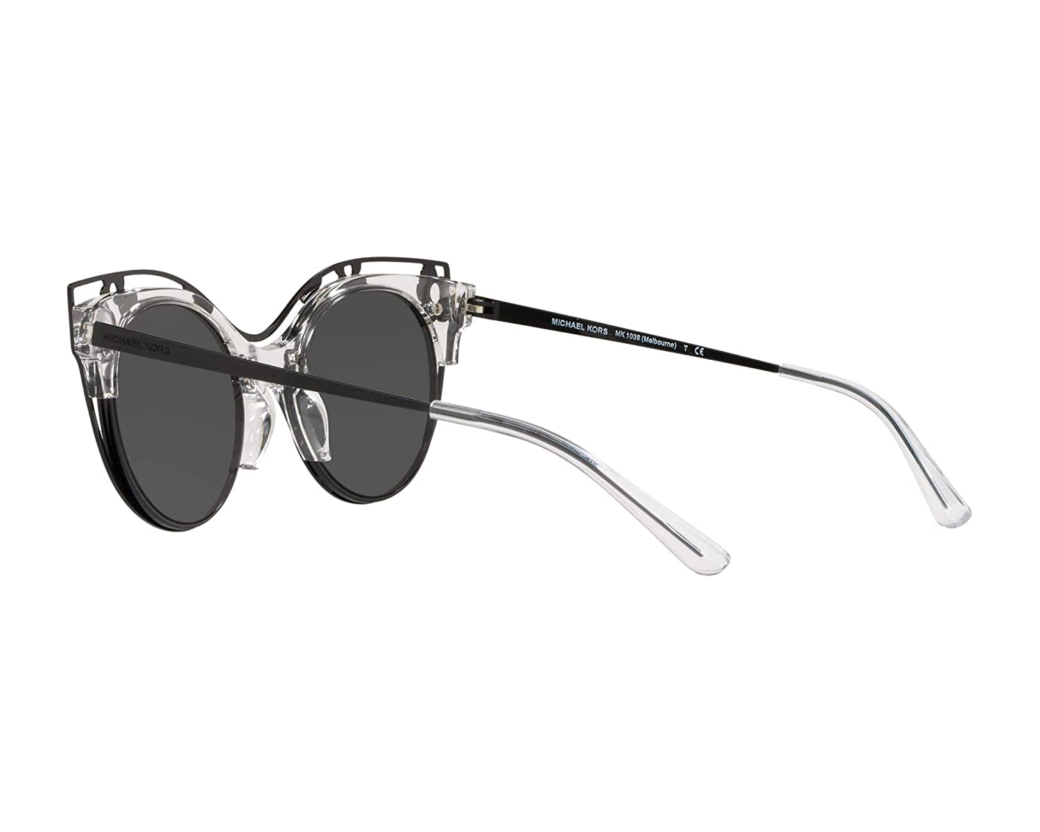 ac594d22b8 Amazon.com  Michael Kors Women s Melborne 0MK1038 52mm Crystal Clear  Injected Grey Solid One Size  Clothing
