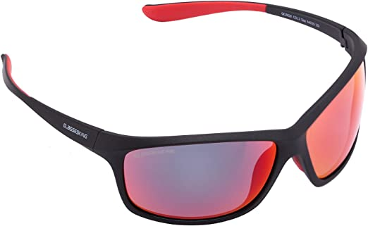Mens Womens Red POLARIZED UV400 SUNGLASSES Sports FIT OVER ON Wrap RX GLASSES