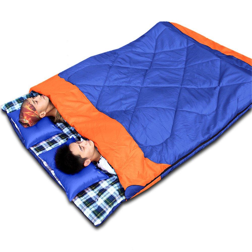 RFVBNM Tourismus über den schmutzigen Schlafsack erwachsenen Studenten im Freien Doppel-Indoor camping dicken ultraleichten tragbaren Schlafsack