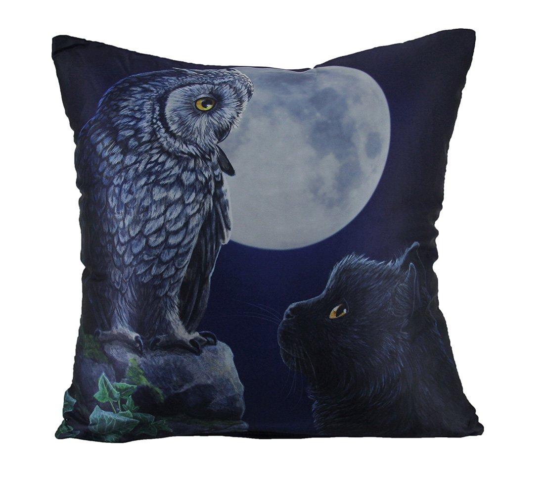 Lisa Parker Purrfect Wisdom Satin Gothic Throw Pillow