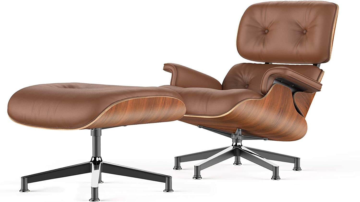 Shop Lounge Chair and Ottoman Mid Century Chair Premium Replica Classic Furniture from Amazon on Openhaus