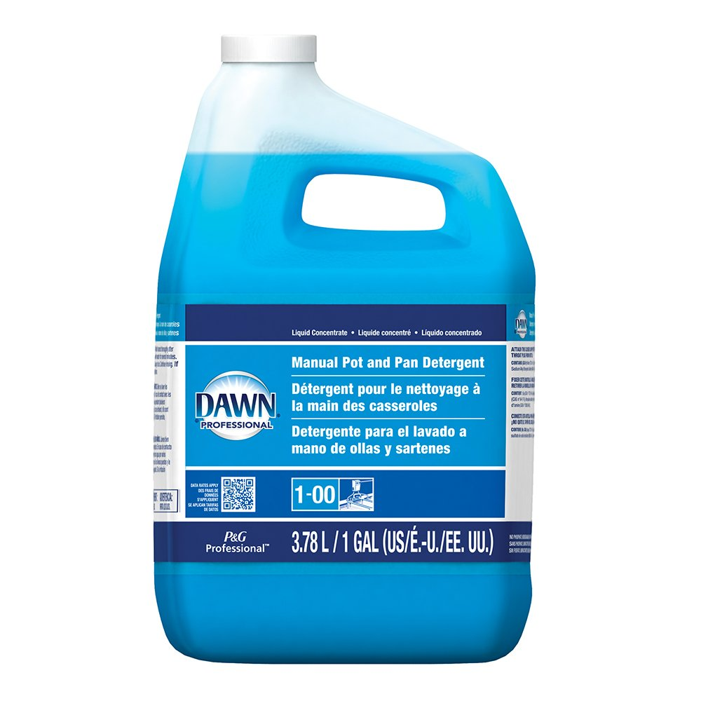 Dawn Professional Pot and Pan Detergent, Regular Scent, 1 Gallon (Case of 4)