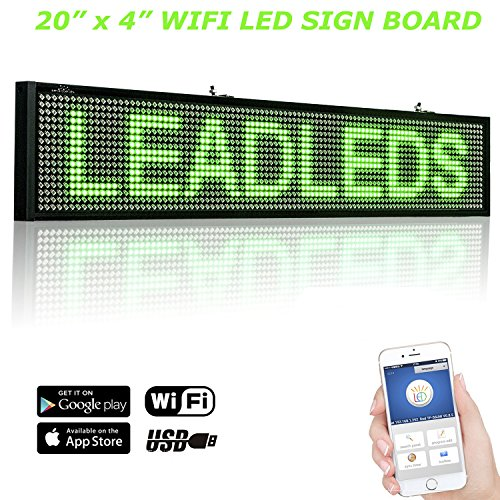 Leadleds WiFi Led Scrolling Sign Electronic Message Board 20