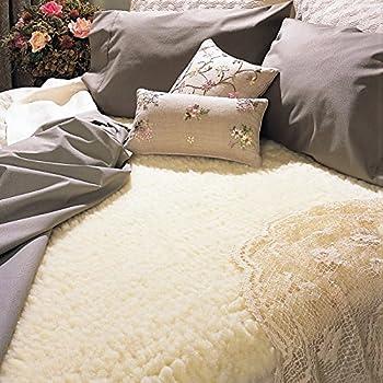 snugfleece original 175 in wool mattress topper pad cover king size 78 x 80