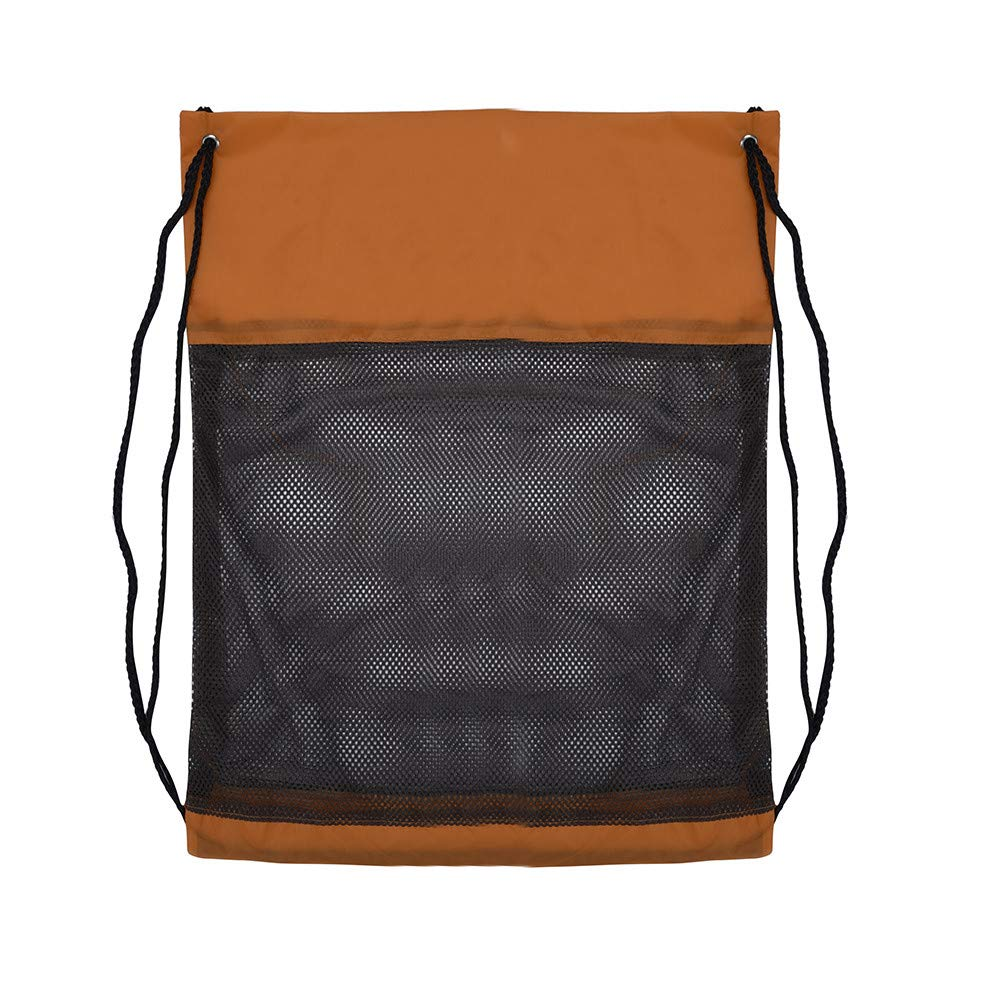 High Capacity Nylon Drawstring Bag,Outsta Sport Travel Outdoor Backpack Bags Messenger Bags Hanging bags Beach Travel Packet (Brown A)
