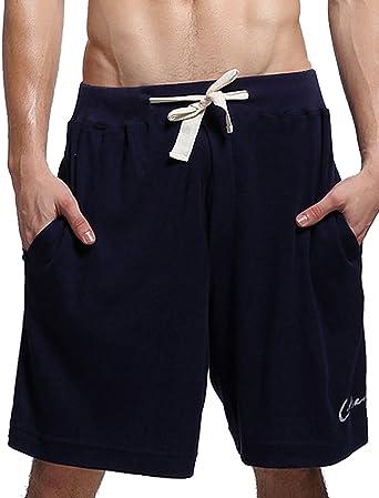 Godsen Mens 2-Pack Elastic Cotton Pocket Short Medium