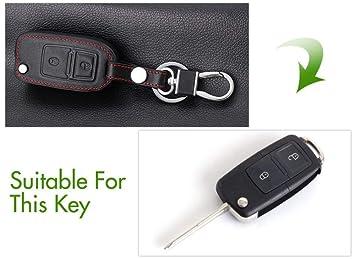 Cbhmc Car Leather Key Case Funda para Llaves Funda para Llave para ...