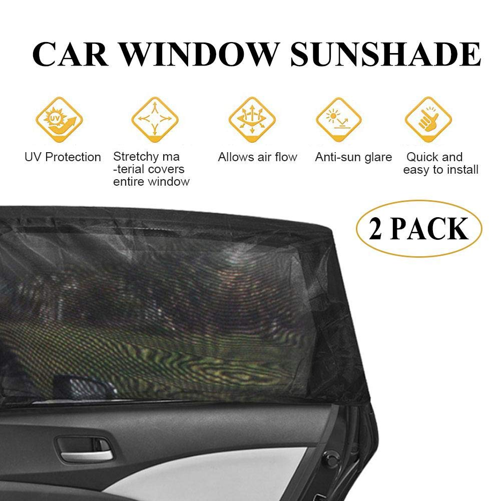 Universal for Cars and SUVs UV Protection Curtain Mesh Sun Heat Block Sunshade Car Side Window Sunshade for Baby Special Mosquito Resistant Screen Window for Baby Kids Pets Lucky-all star 2 Pack