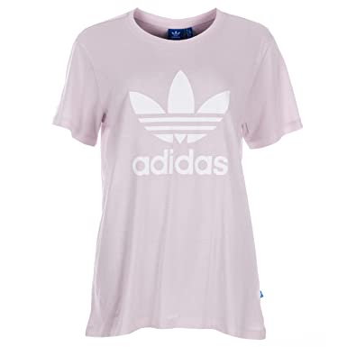 f3e9d882 adidas Originals Womens Womens Boyfriend Trefoil T-Shirt in Purple - 10