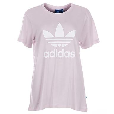 ab5379a8d4bbf adidas Originals Womens Womens Boyfriend Trefoil T-Shirt in Purple - 10: adidas  Originals: Amazon.co.uk: Clothing