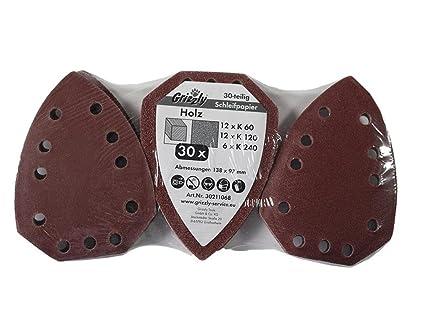 30 piezas lija Set Madera cabe para Parkside Lidl – Amoladora de mano (Modelos (