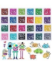 24 Gekleurde Stempelkussens, Kleuren Vingerafdruk Inkt Pad Stempels Vingerafdruk Tekening, Niet-Giftig Vingerafdrukstempelpads, Gemak Vinger Inktkussen Duurzaam, Voor Scrapbooking DIY Handwerk