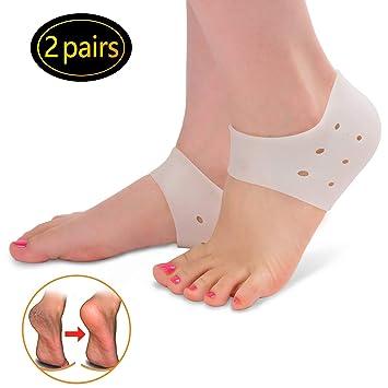 Calcetines de talón de silicona con gel hidratante para el cuidado de los pies: Amazon.es: Salud y cuidado personal