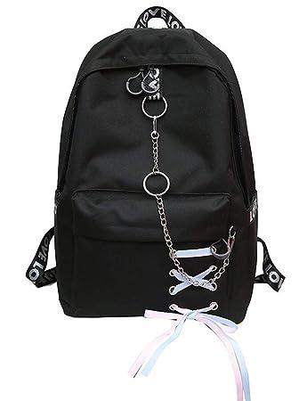 Haoda Personalidad Backpack Mujer Mochila Escolar Shopping Moderna Mochila de la Ciudad Simple Daypacks Kawaii Chica Mochilas Joven: Amazon.es: Equipaje