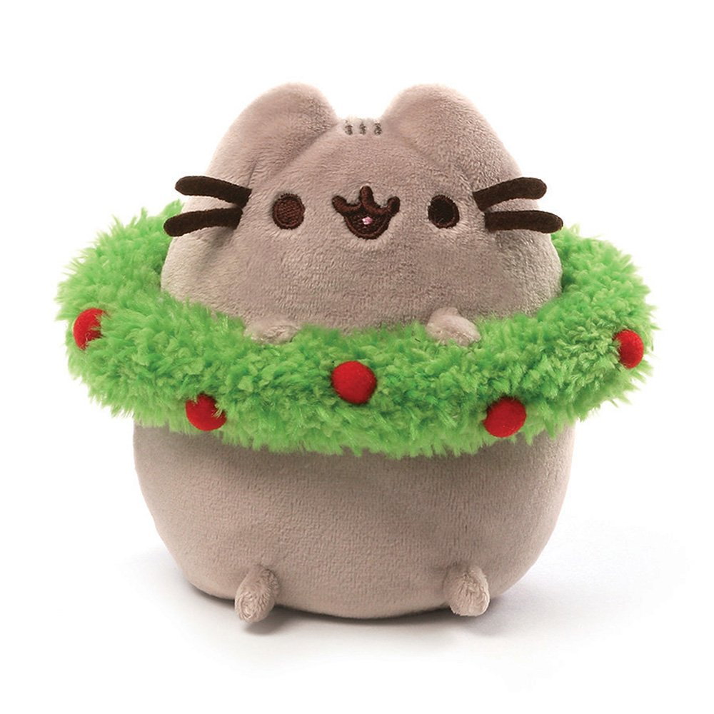 Gund Pusheen Holiday Plush with Wreath: Amazon.es: Juguetes ...