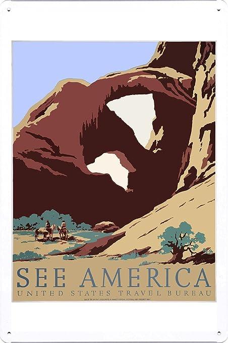 Amazon com: Tin Sign of Retro Vintage Travel Poster