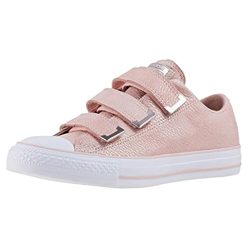 d75877c5eb9229 Converse Chuck Taylor All Star 3v Ox Womens Trainers Blush Pink - 4.5 UK