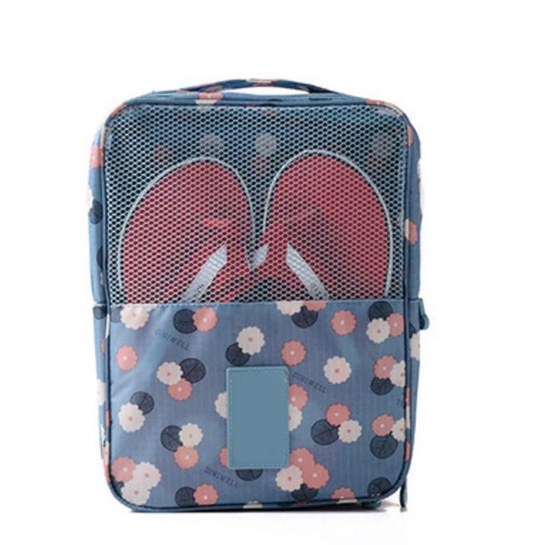 Lieyliso Bolsos de Viaje port/átiles Bolsos Organizador de Zapatos Bolsa de Almacenamiento para Viajes Diarios Color : Blue Daisy