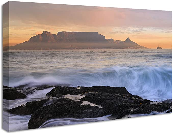 Antiquitaten Kunst Iconic Cape Town South Africa Panoramic Box Canvas Print Wall Art Picture Vaideliene Lt
