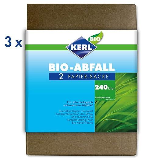 Kerl 4003450023847 - Bolsas de basura ecológicas (240 l, 3 ...