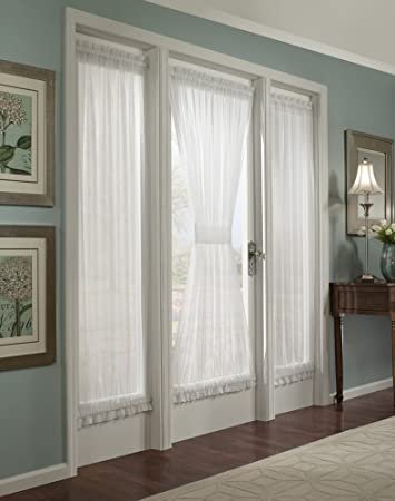 Curtains Ideas curtain panels 72 length : Amazon.com: Batiste Sheer French Door Curtain Panel with Tieback ...