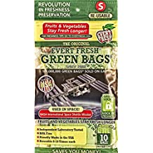 Evert-Fresh Green Bags Produce Saver, 10 Pack, Small