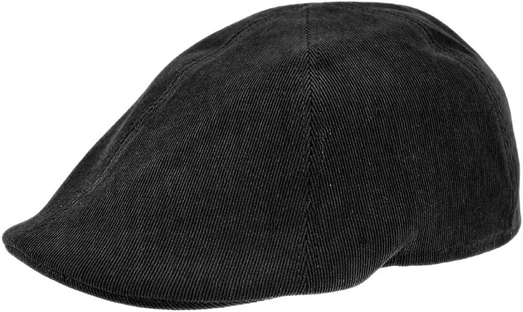 Jaxon Hats Corduroy Duckbill Flat Cap