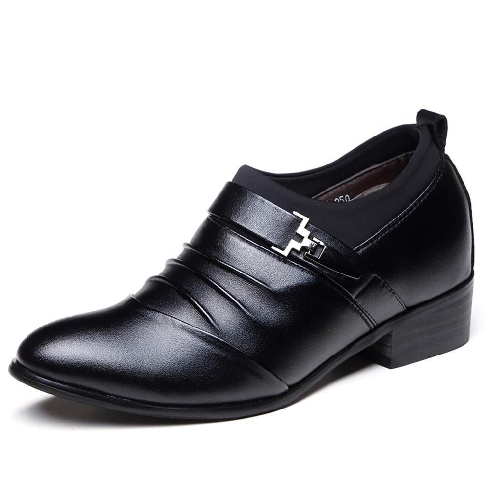 Qiusa Zapatos para para para Hombre con Hebilla de Monje Ocultos en el talón en Zapatos de Trabajo Ocasionales Formales (Color : Negro, tamaño : EU 40) b2dc74
