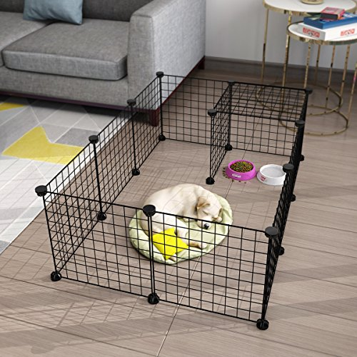 LANGRIA Metal Wire Storage Cubes, DIY Small Animal Cage