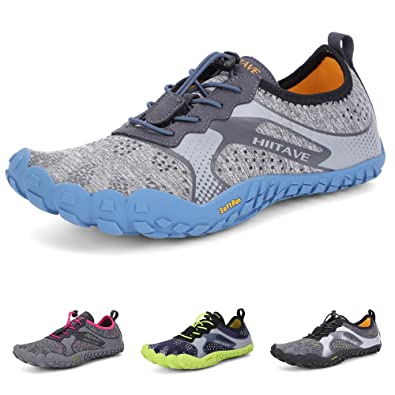 8d229c1fe807 hiitave Men Womens Minimalist Barefoot Trail Running Shoes Wide Toe Glove  Cross Trainers Hiking Shoes