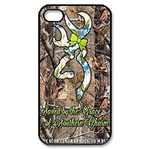 Browning Cutter Logo Productive Back Phone Case For Iphone 4 4S case cover -Pattern-6