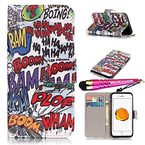 (iPhone 7 Plus - Case, iPhone 8 Plus - Case, MerKuyom [Kickstand] Premium PU Leather Wallet Pouch Flip Cover Case for Apple iPhone 7 Plus/iPhone 8 Plus 5.5